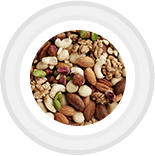 If you prefer the natural crunch of raw or roasted nuts, there's no better way to supplement your daily serving of lean protein! Just a handful provides a rich blend of healthy fats, fiber, and trace vitamins and minerals that help you feel satiated.